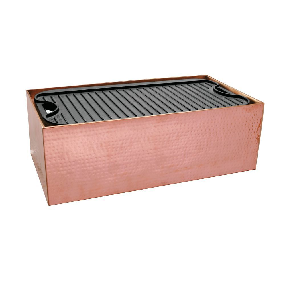 GRIDDLE STATION, RECT, HMMRD COPPER, 22X11