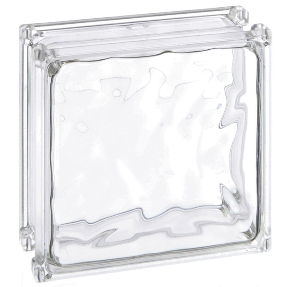 "Decorative Glass Block Clear Decorative Glass Block 6/""L x 8/""W x 3/""H"