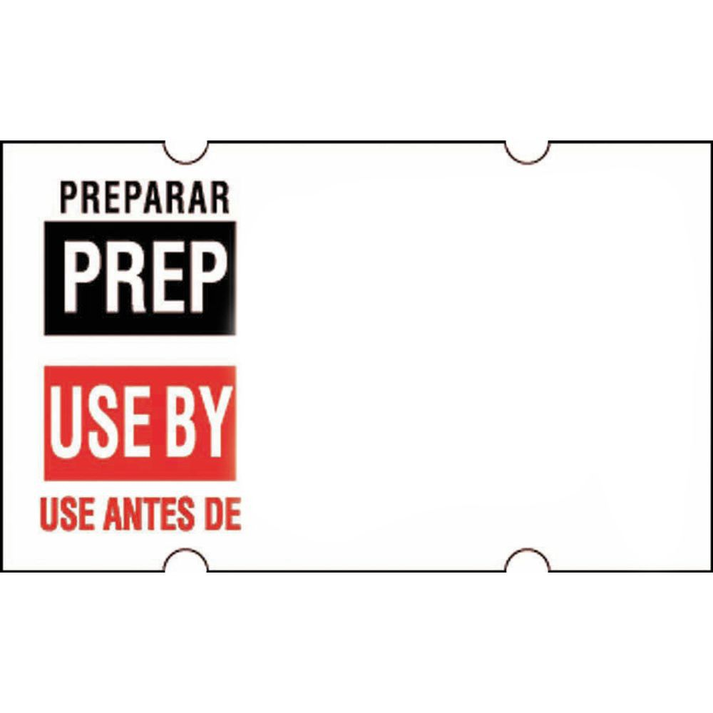 LABELS, PREP/USE BY BILINGUAL, 12 ROLL/PK