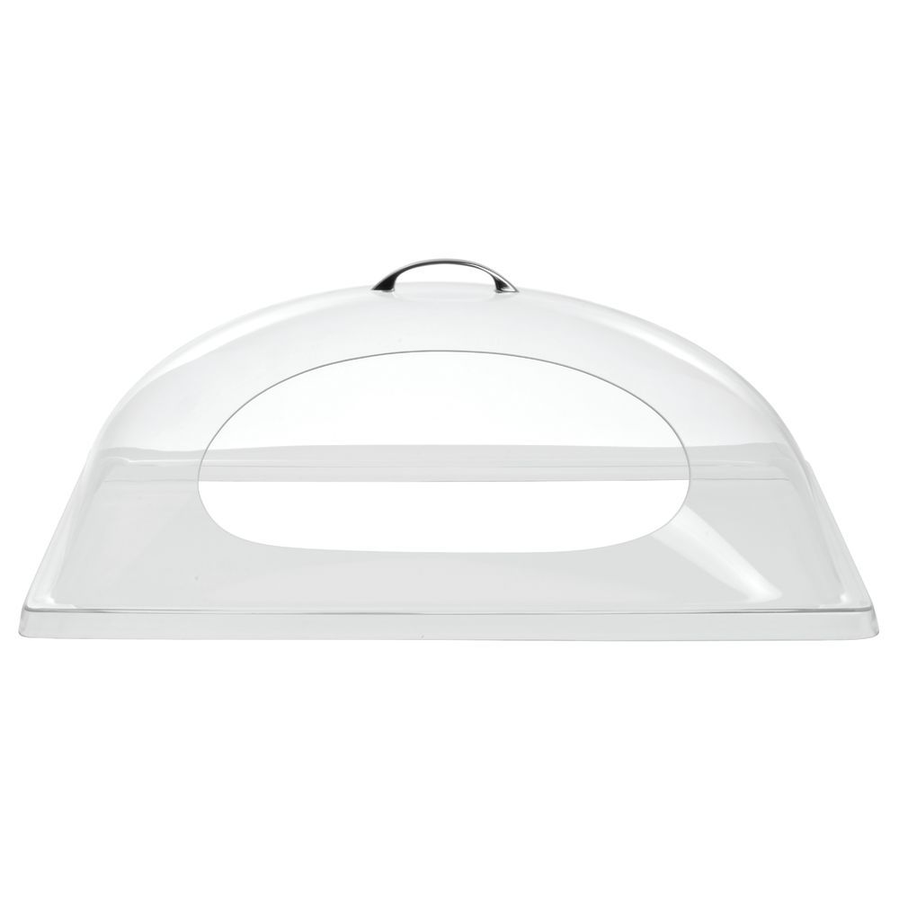 Cut-out Serving Tray Lid Allows Easy Product Access