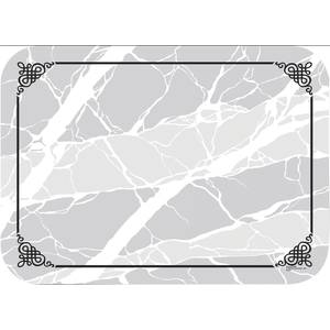 TRAY COVER, MARBLED ELEGANCE, 18.75X13.625