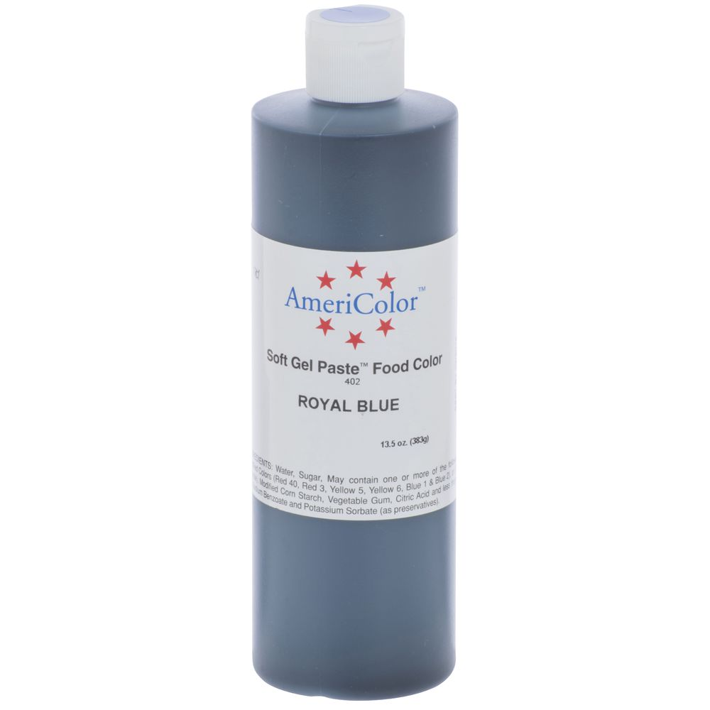 Ateco 13 12 oz Royal Blue Liquid Gel Food Color