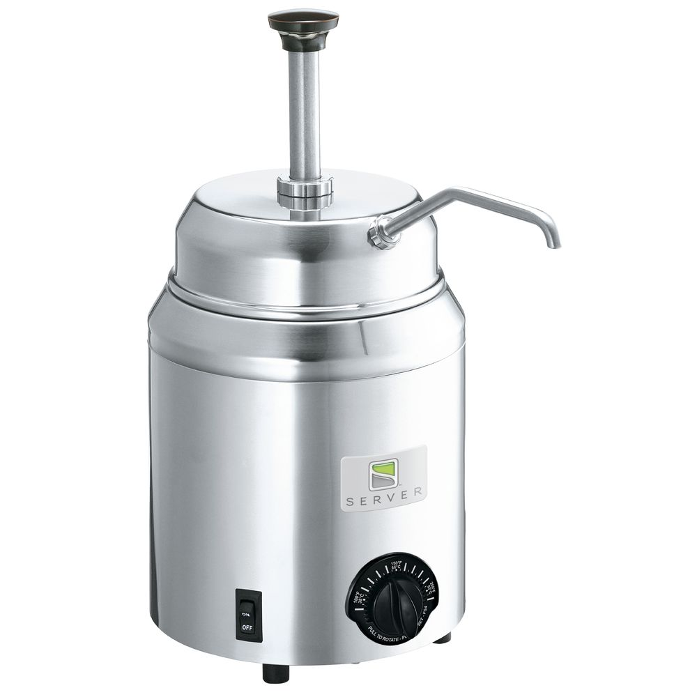 WARMER, W/STAINLESS PUMP, HOT TOPPINGS