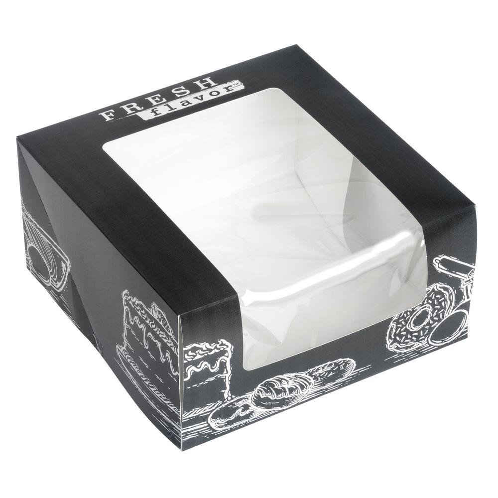BOX, BAKERY, WINDOW, FRESHFLAVOR, 8X8X4, CS