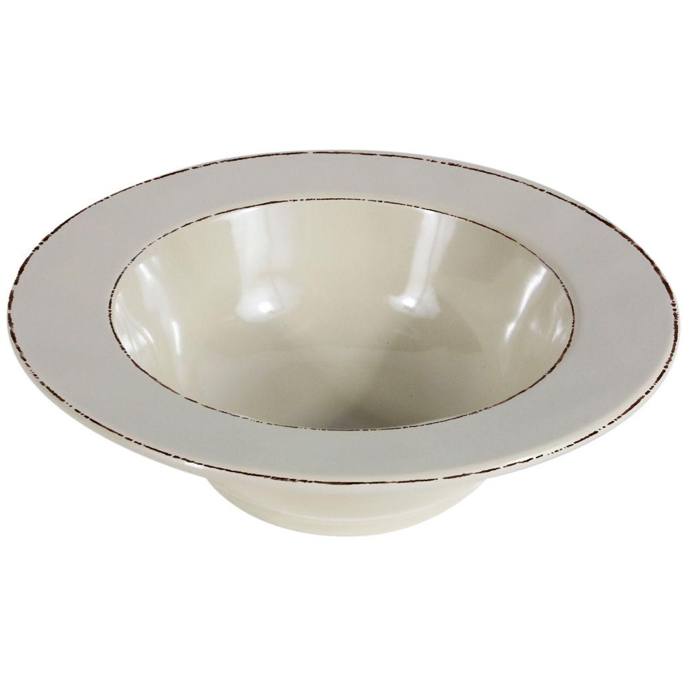 Elite Trestles 18 oz Vanilla Melamine Bowl