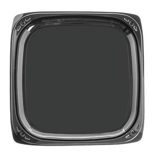 "PLATTER, PARTY, 16"", W/LID, BLACK"
