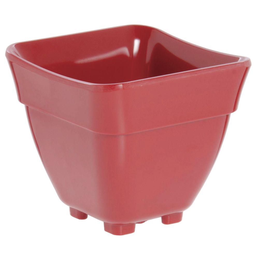 Expressly Hubert® Buffet Pans Red Melamine Sixth Size
