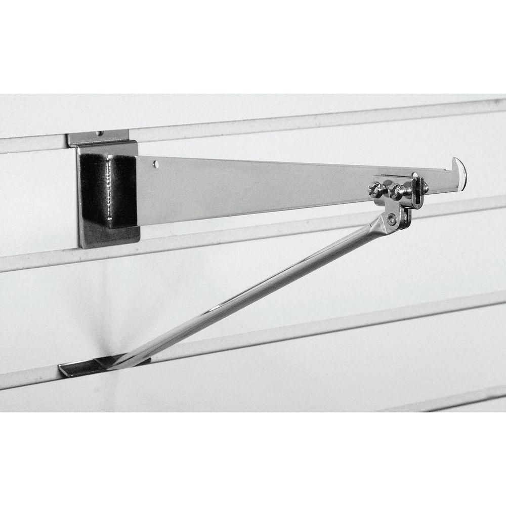 Black Steel Slatwall Shelf Bracket - 8