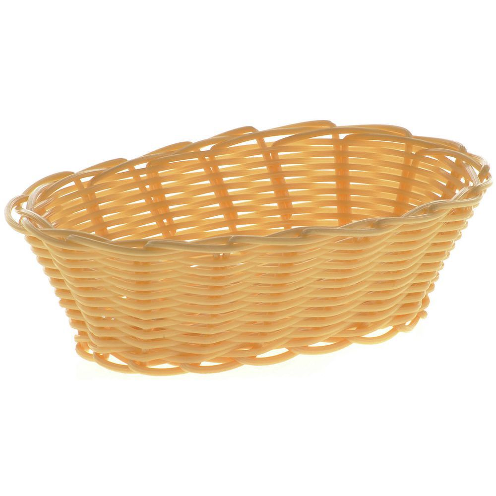 "BASKET, BREAD, OVAL, 7"", NATURAL"