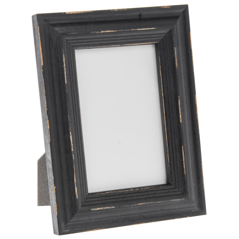 Distressed Black Wood Rustic Sign Frame 5 14l X 34d X 7 12h