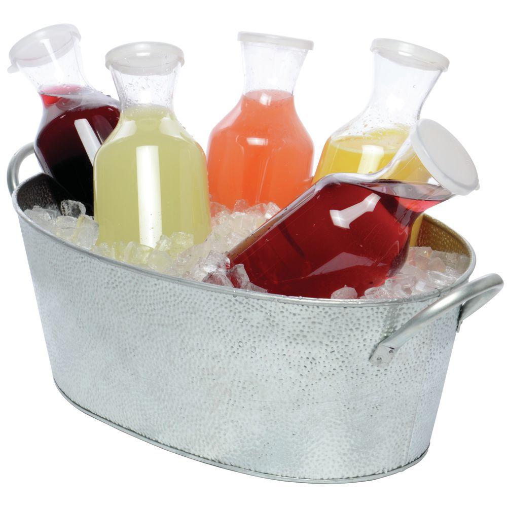 """TableCraft Oval Metal Beverage Tub 23""""L x 13""""W x 7 1/2""""H"""