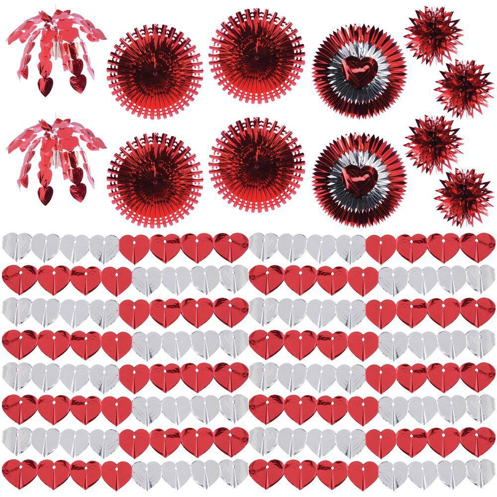Valentine Metallic Red/Silver