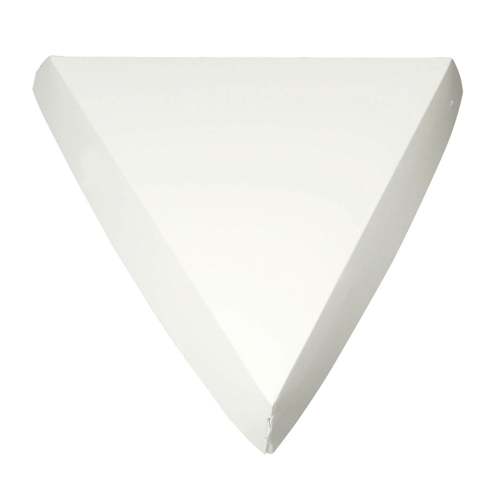 """Clamshell Single Slice Pizza Boxes White 9 1/4""""L x 9""""W x 1 11/16""""H"""