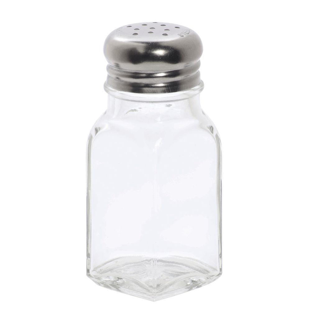 American Metalcraft 2 Oz Glass Salt And Pepper Shakers With