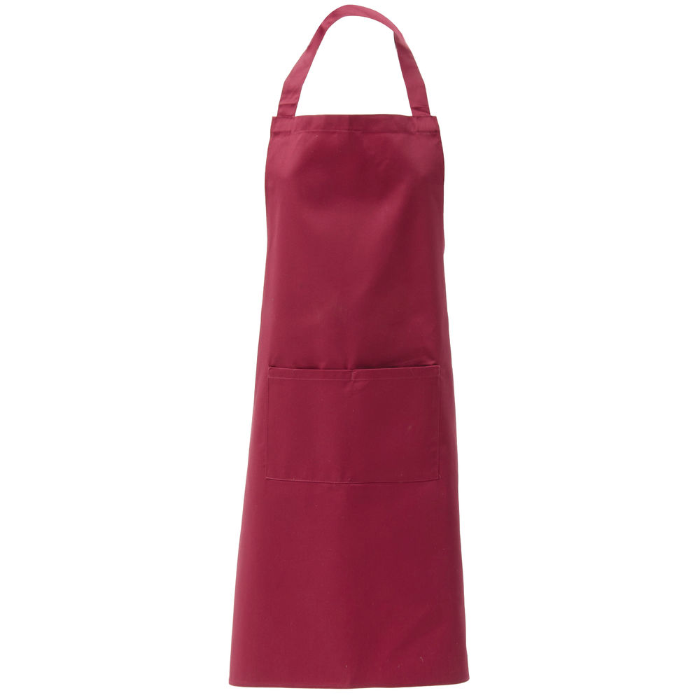 Hubert® Bib Apron with Pockets Burgundy