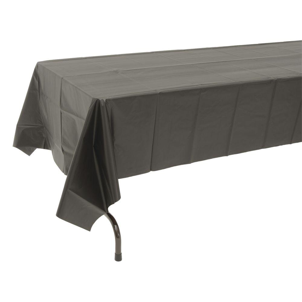 TABLECOVER PLASTIC BLACK 54X108  sc 1 st  Hubert.com & Table Mate Black Plastic Disposable Table Cover - 54\
