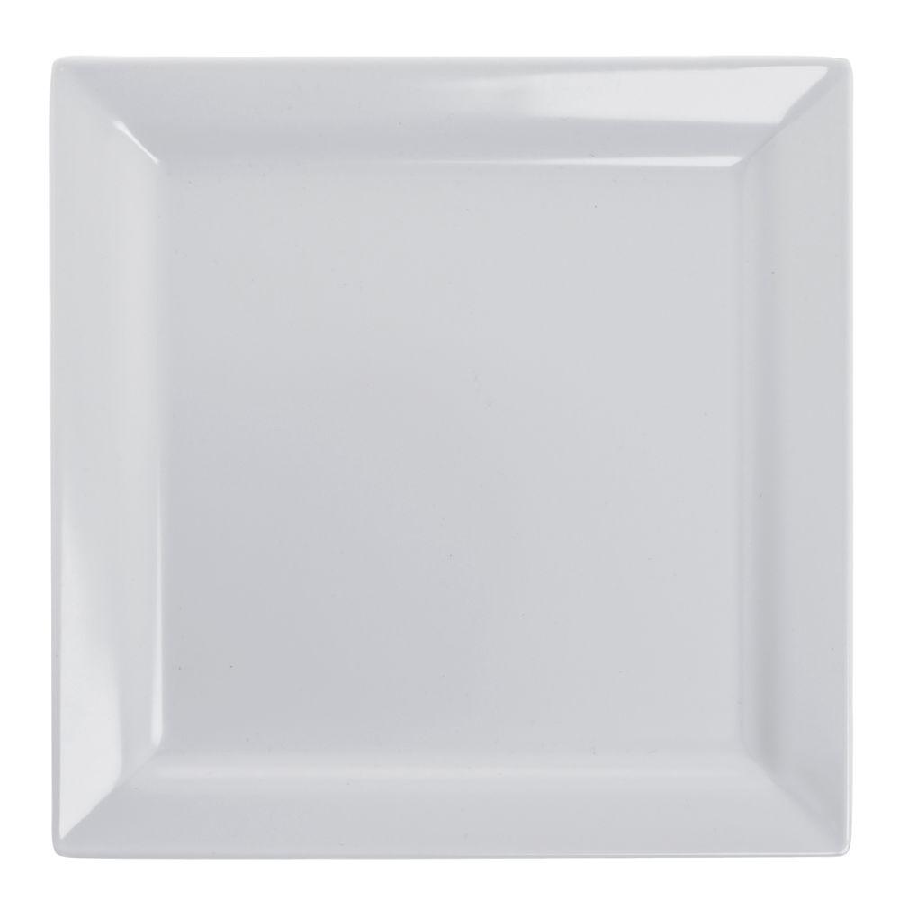 "Elite Global Solutions Vogue Square White Melamine Plate 9""Sq 6/Cs"