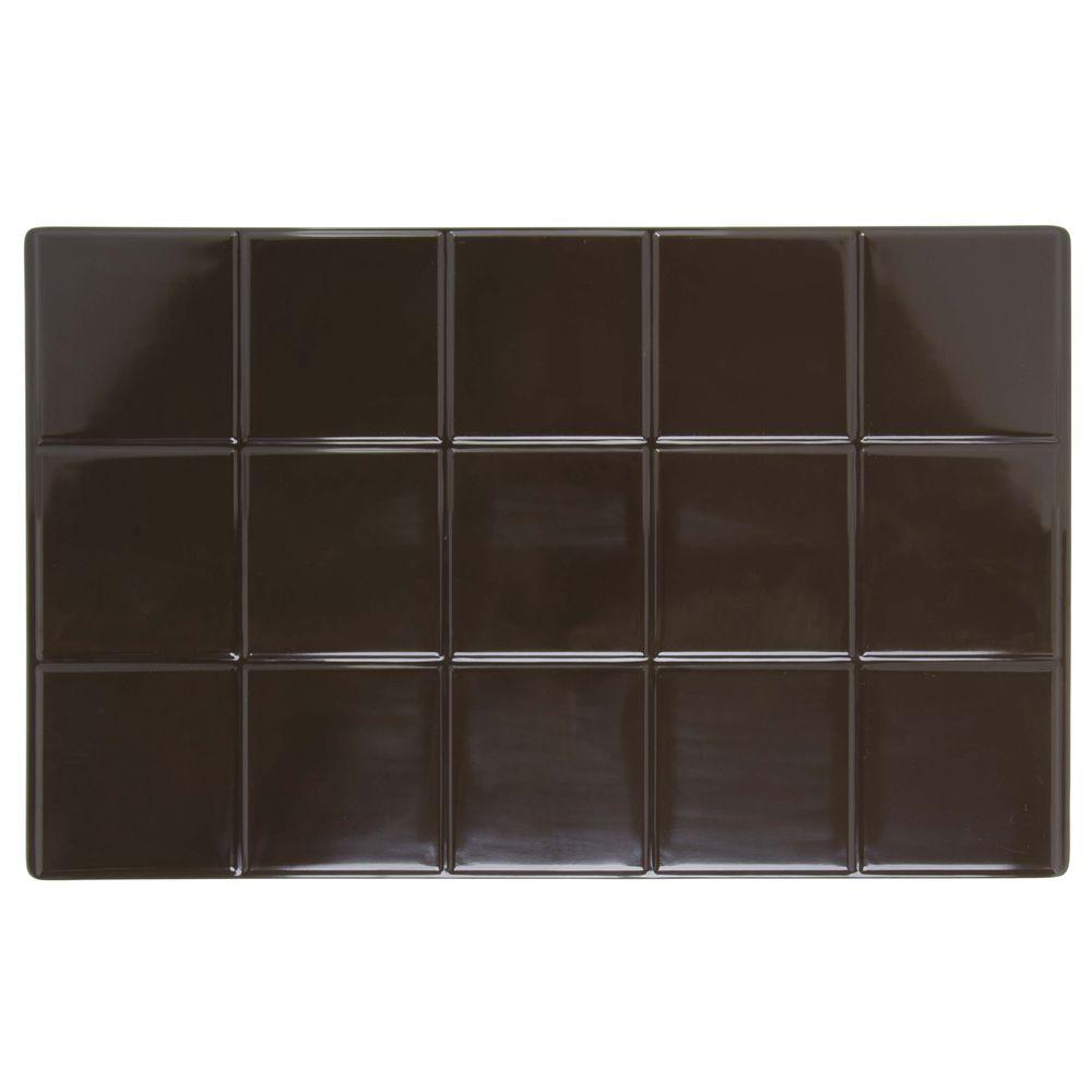 Expressly Hubert® Melamine Solid Tile Full Size Brown