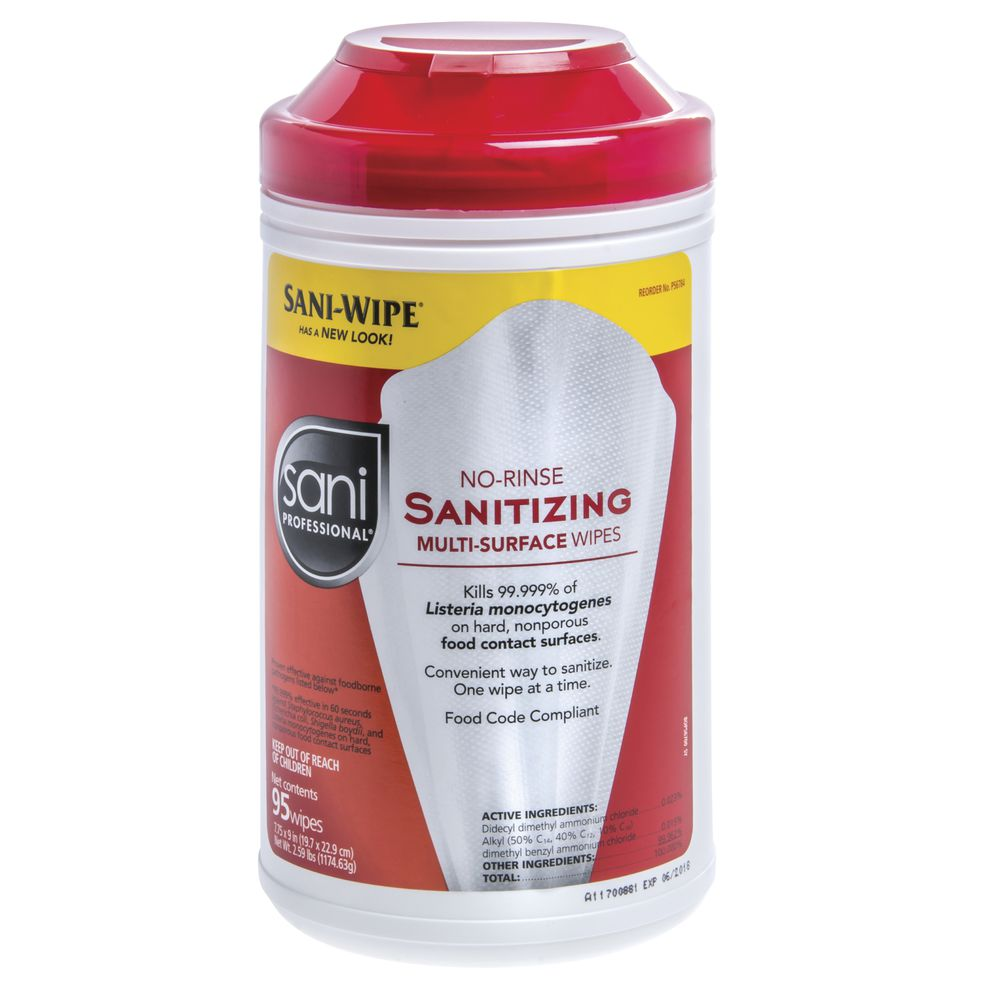 Sani Professional No-Rinse Sanitizing Multi-Surface Wipes