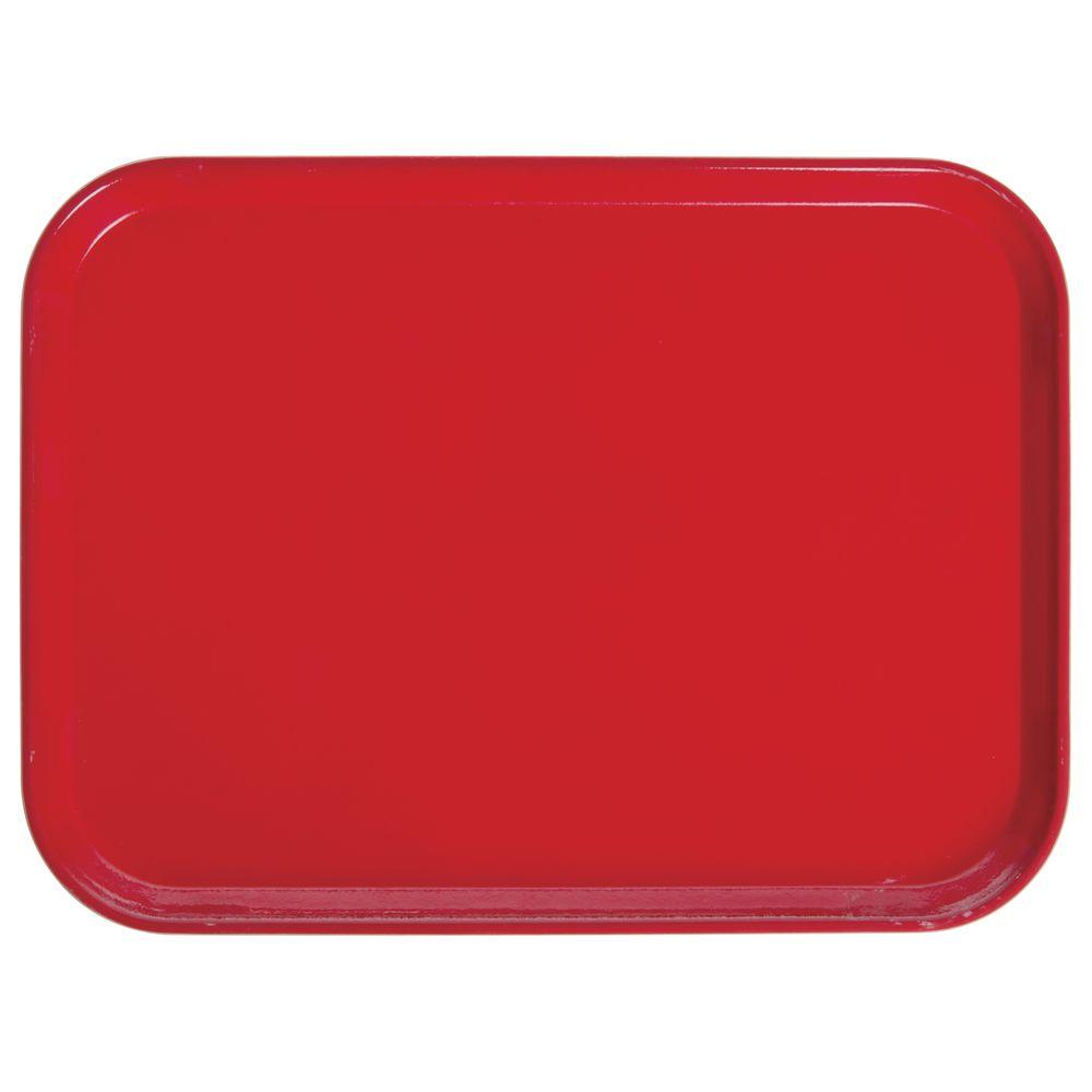 """Cambro Fiberglass Tray Red 16""""L x 12""""W"""