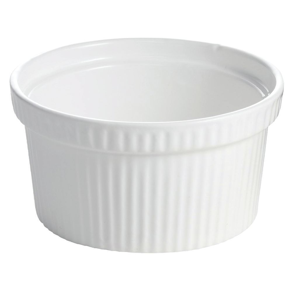 "BOWL, FLUTED, COATED ALUM, 6.5"" DIA, WHITE"