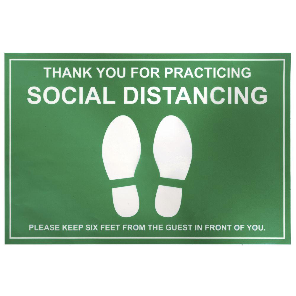 Green Vinyl Social Distancing Floor Marker