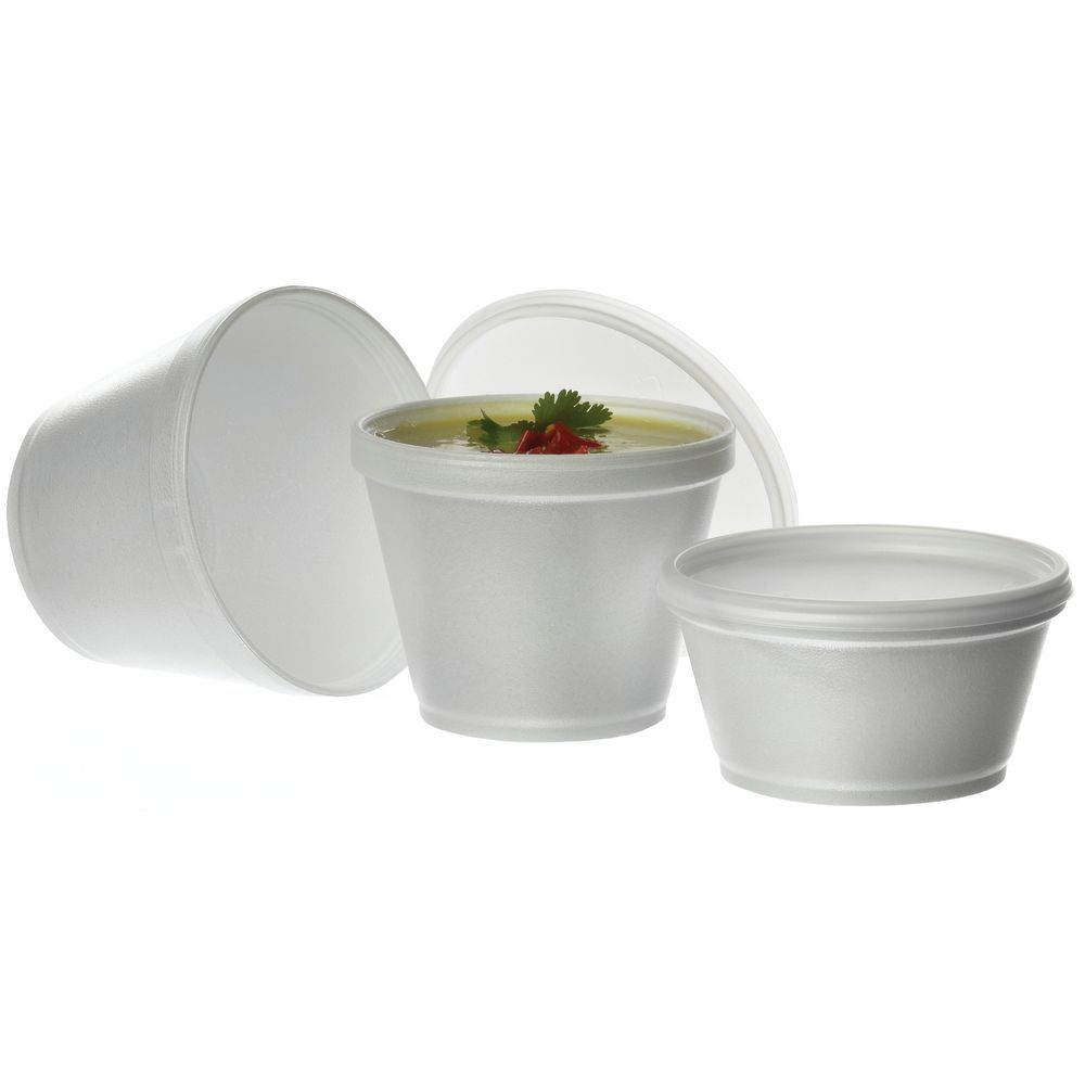 CONTAINER, 8 OZ SOUP, FOAM (LID 95512)