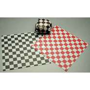 SANDWICH WRAP/BASKET LINER, BLACK GINGHAM