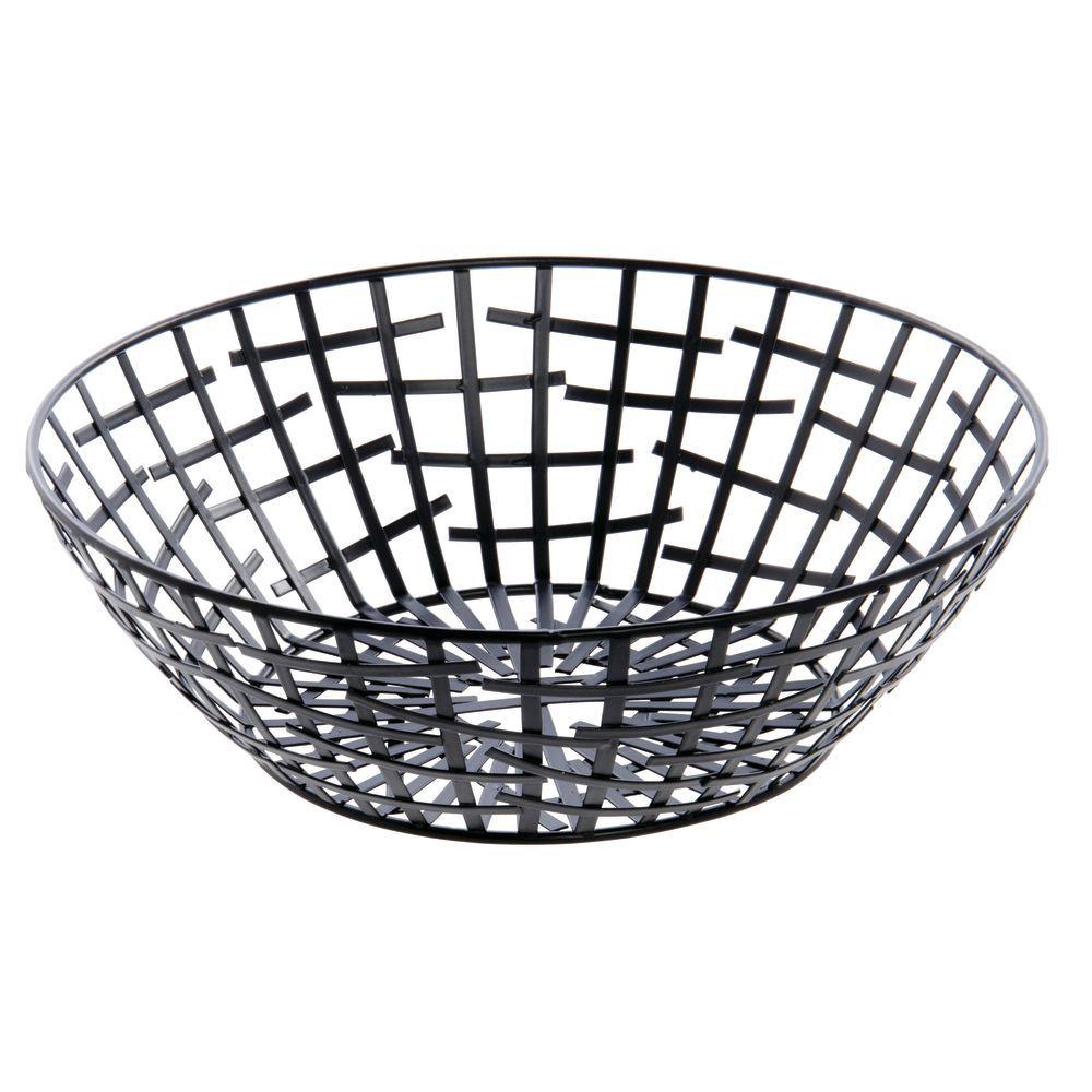 Tablecraft® Complexity Round Black Wire Basket - 10\