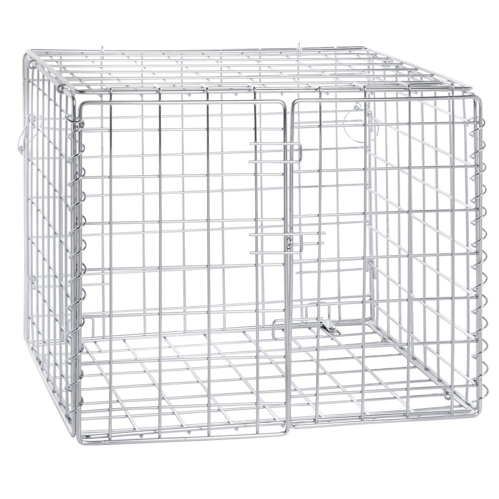 hubert security cage lockable chrome wire