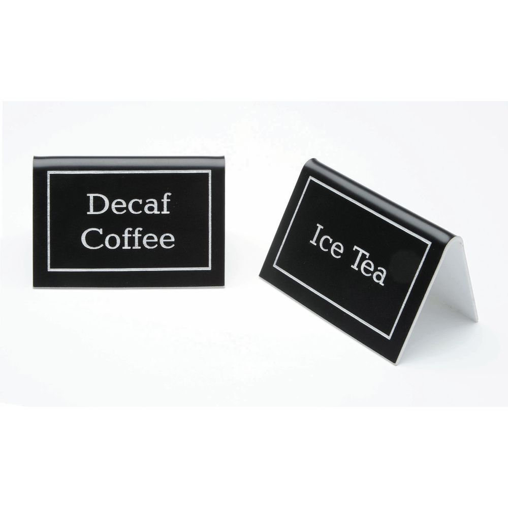 """Engraved Coffee Beverage Sign 3""""L x 2""""H x 1 3/4""""D"""