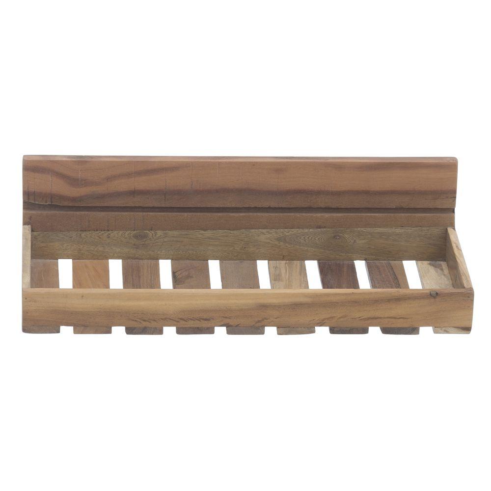 Expressly Hubert Slatted Reclaimed Wood Wall Shelf 24l X 10w X 6h