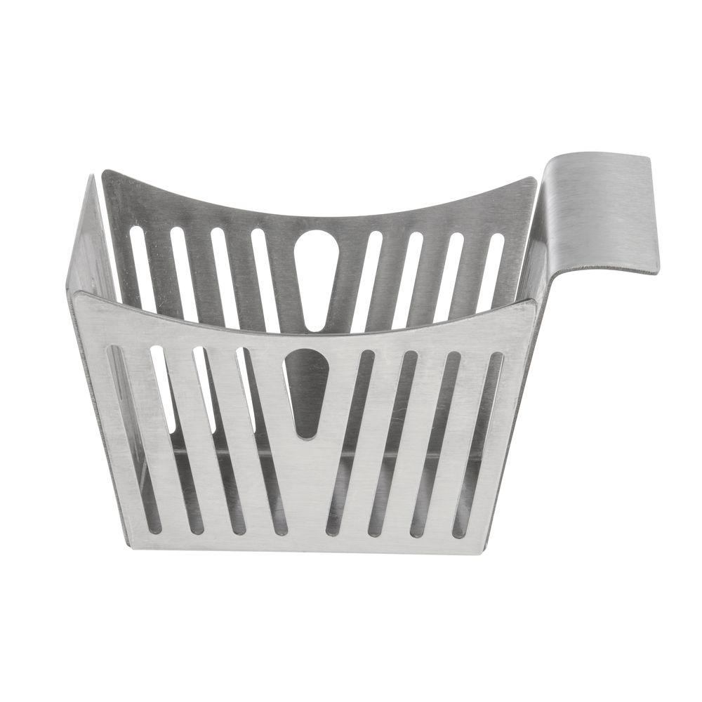 Tablecraft® Stainless Steel Side Basket Striped Satin Finish 12 Oz