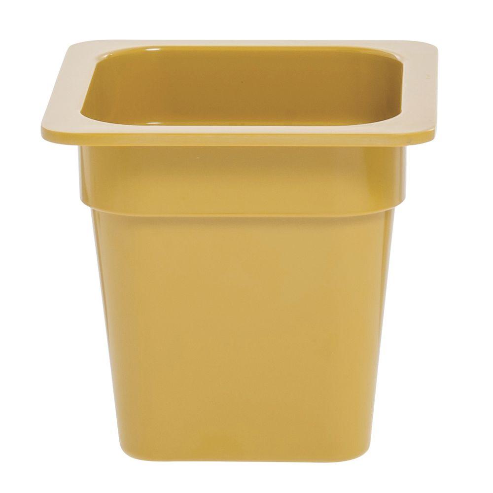 "Expressly Hubert® Sixth Size Melamine Pan 6""D Mustard Yellow"
