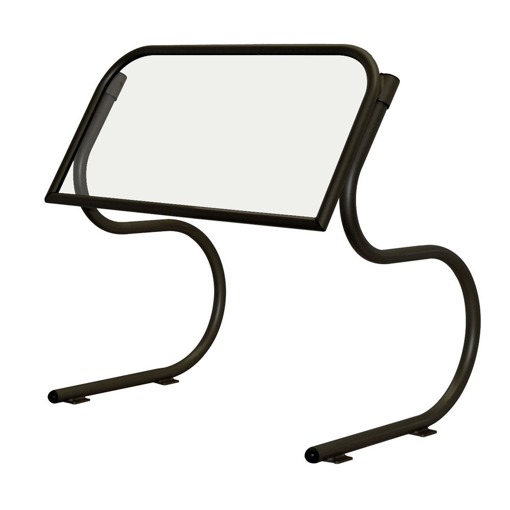 """Buffet Sneeze Guard Portable 25 1/2""""L Scratch- Resistant Black High Profile Opening"""