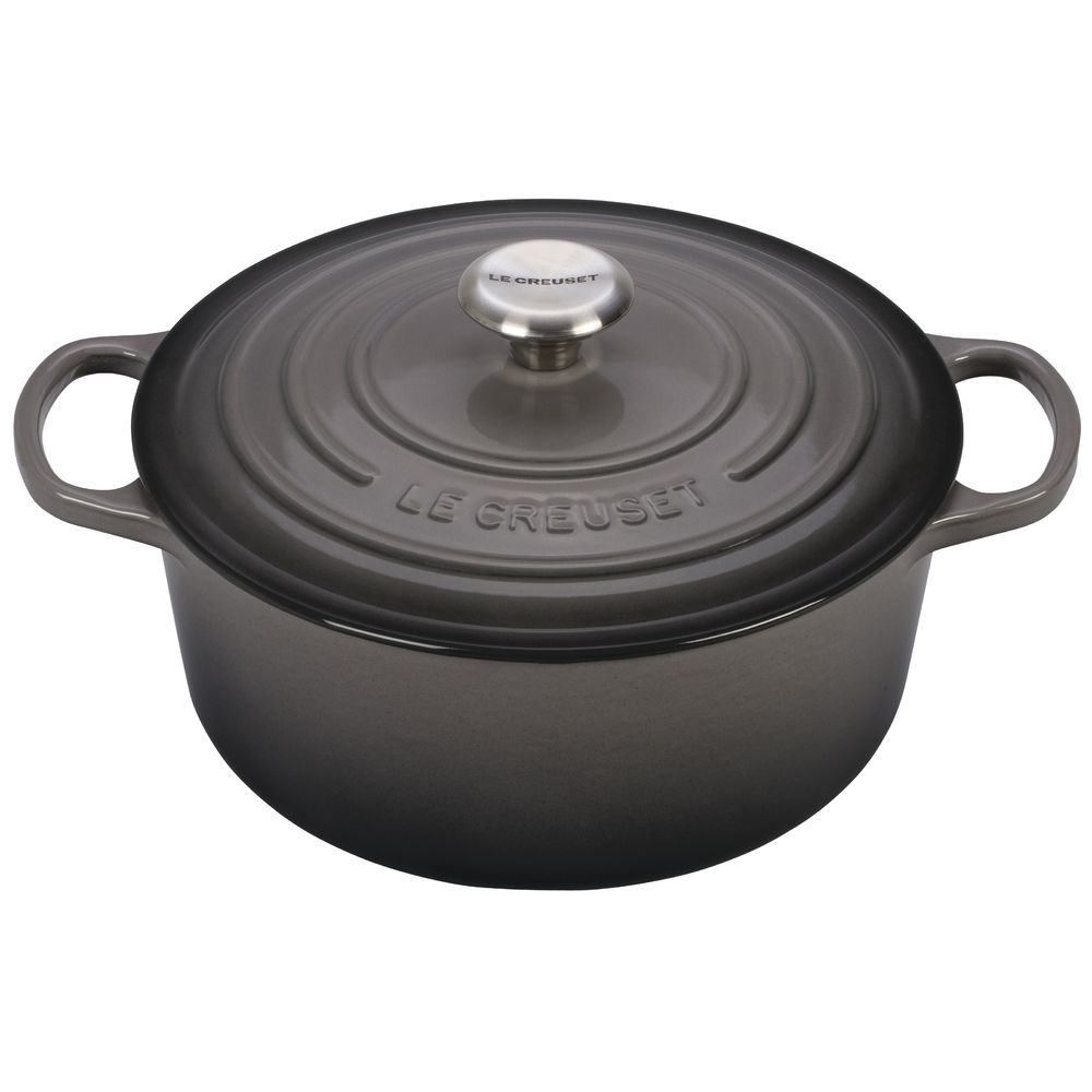 OVEN, FRENCH ROUND, OYSTER, 5.5 QT, CAST