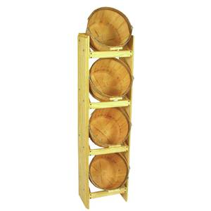 4 BASKET 1 PECK VERTICAL DISPLAY RACK