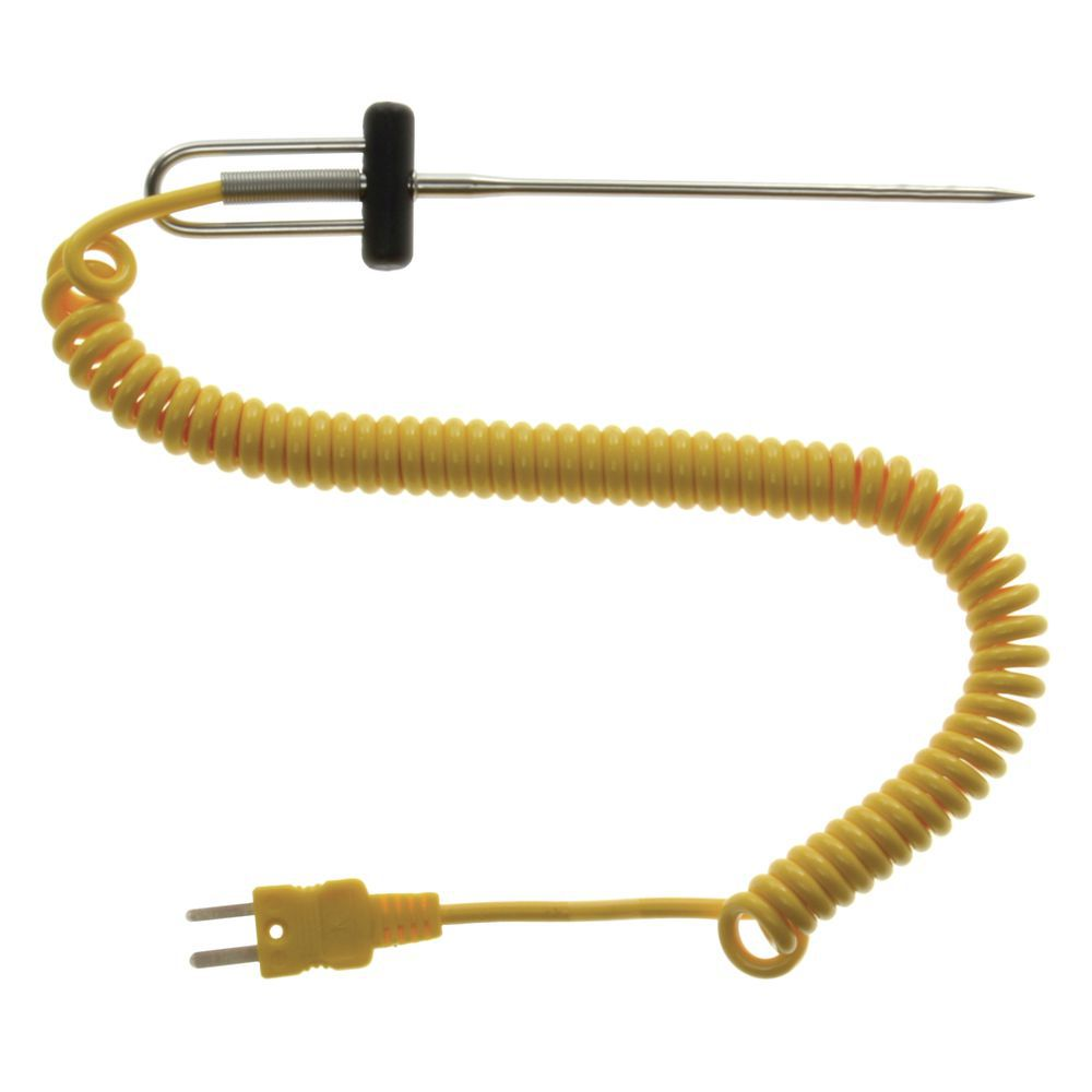 Cooper Atkins 1 8 Temperature Monitoring Needle Probe With 48l Circuit Dia Coiled Cable