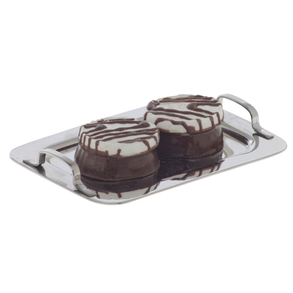 Mini Stainless Serving Tray with Handles 3 1/8 x 2 1/2