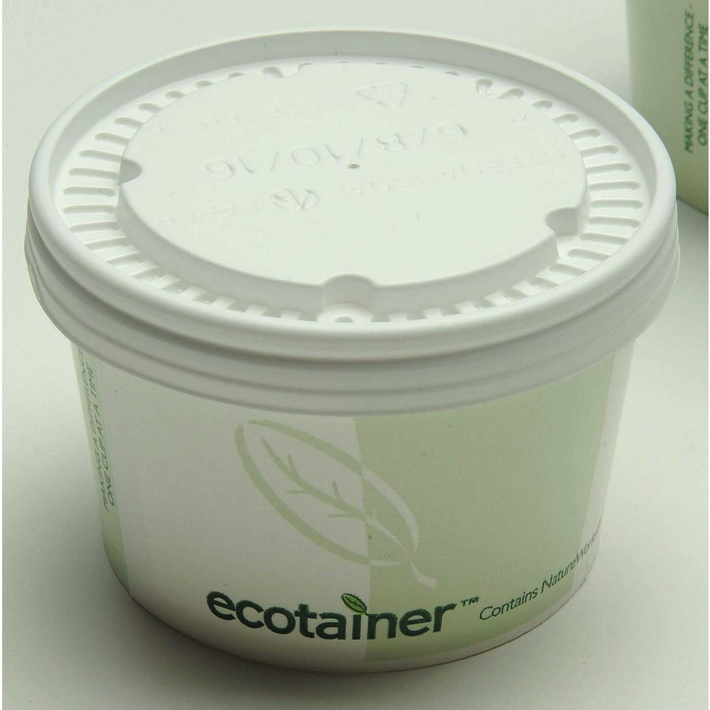 8 Oz Ecotainer To Go White Paper Soup Containers 3 34dia X 2 14h
