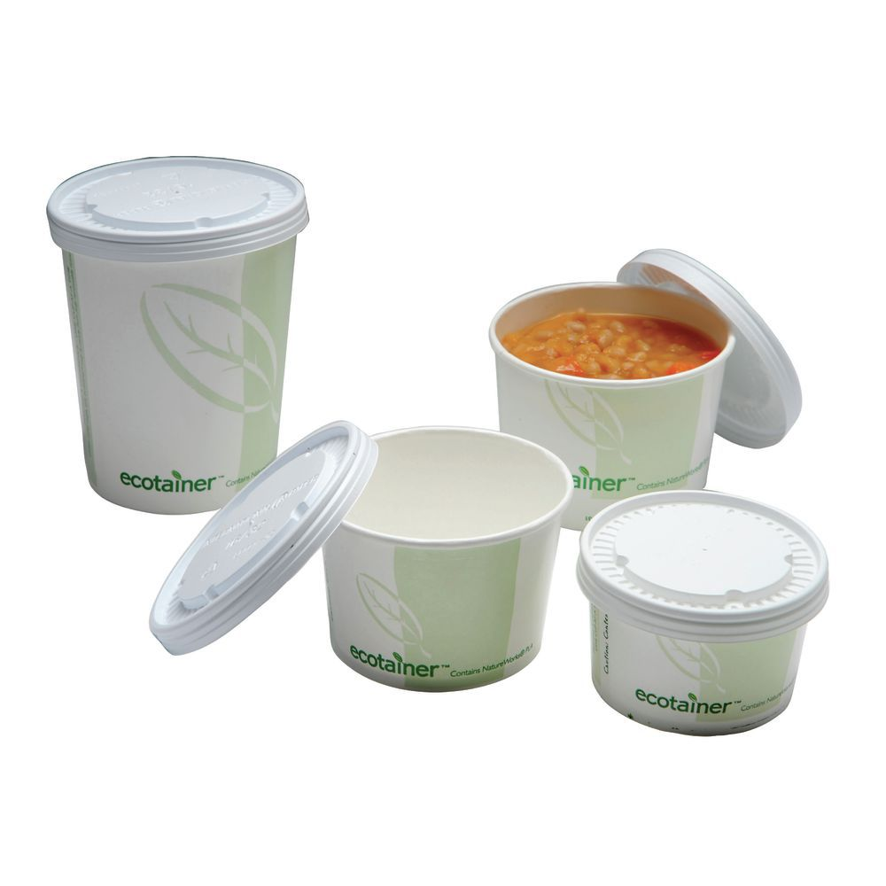 Ecotainer To Go Paper Soup Containers 8 Oz