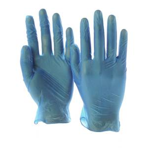 GLOVES, BLUE, VINYL, DISPOSABLE, 100/BX, XL