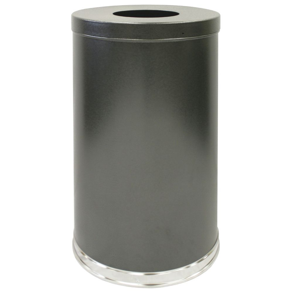 Witt 35 gal Granite Grey Steel Indoor Receptacle With Open Top