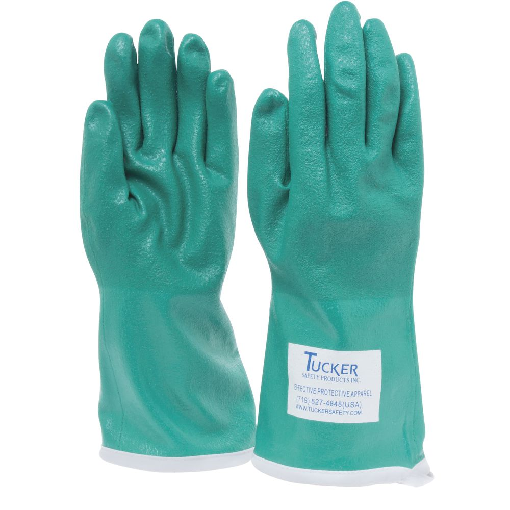 GLOVE, GREEN UTILITY, NITRILE, LARGE, 13""