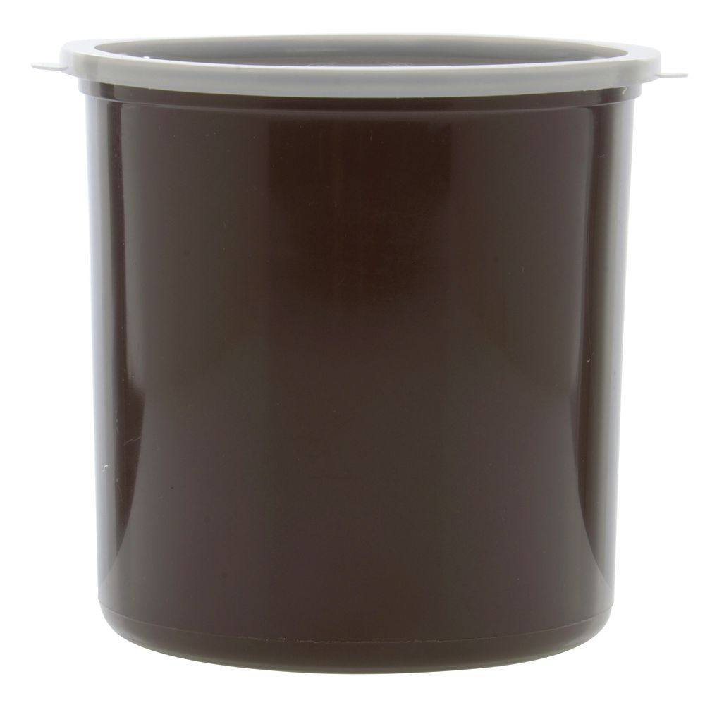 CROCK, BROWN, POLYPROPYLENE, 2.7QT, W/LID