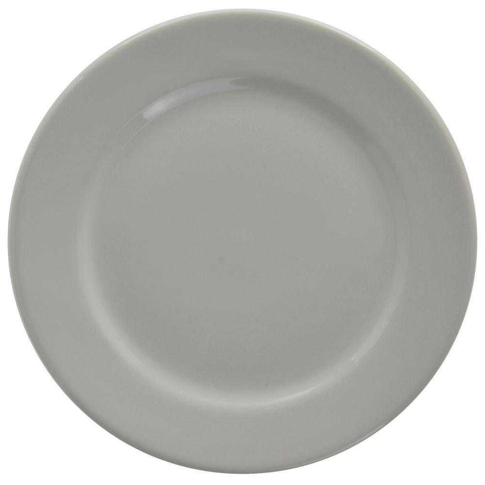 """+PLATE, STNWRE, DINR, 9.75""""DI, RLEDGE, BRTWHT"""