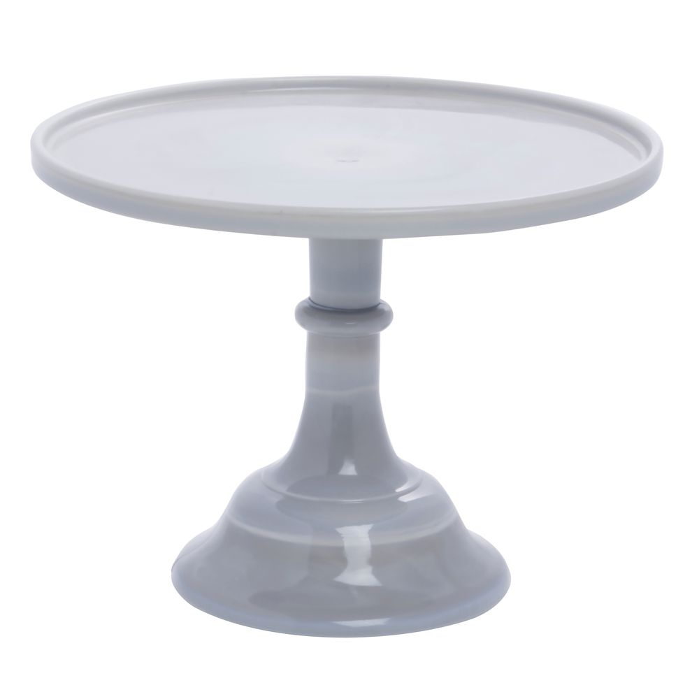 CAKE STAND, GLASS, 10DIAX8H, GREY MARBLE
