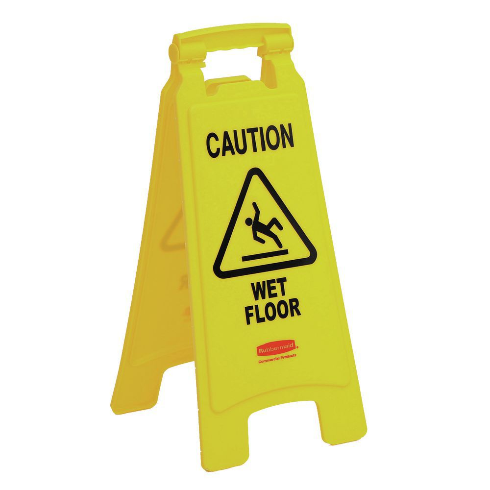 """SIGN, 25""""CAUTION WET FLOOR, 2 SIDED, YEL"""