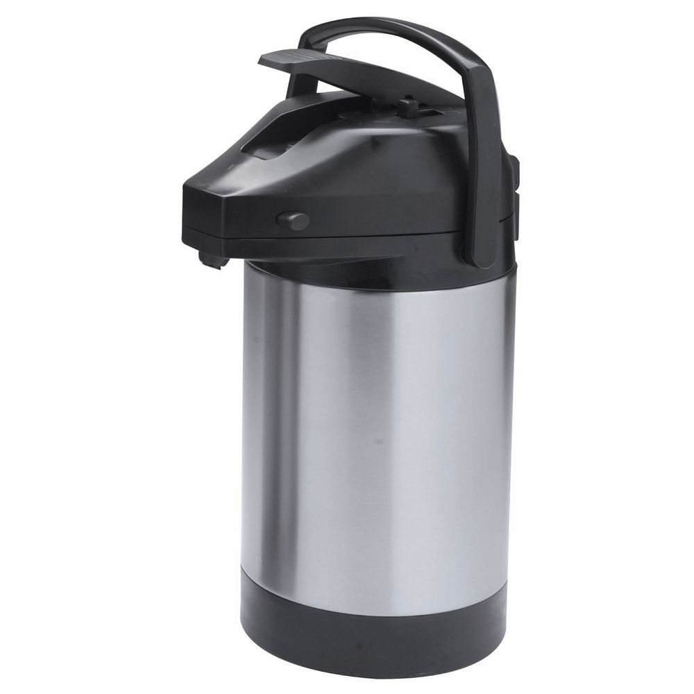 Hubert Stainless Steel Airpot with Lever Lid 2 1/2 L