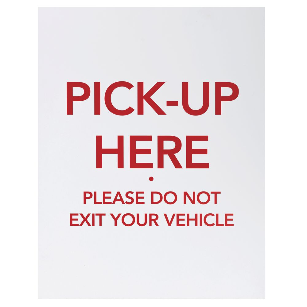 Pick Up Here Sign
